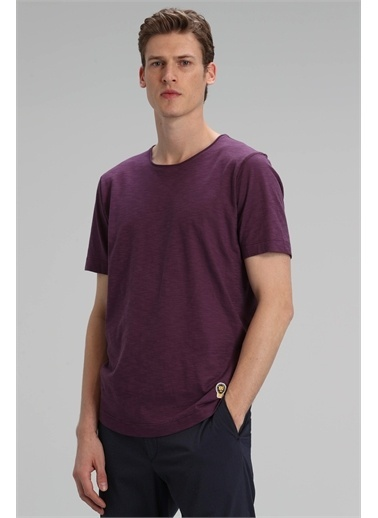 Lufian Junya Modern Grafik T- Shirt Haki Mürdüm